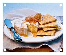 Brie Canapé with Magic Toast Jam