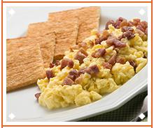 Scrambled eggs with Magic Toast