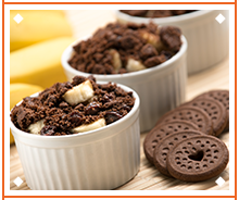 Banana and Chocolate Crispy Pie