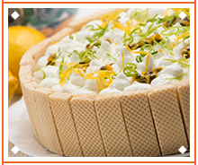 Cold Lemon and Passion Fruit Pie